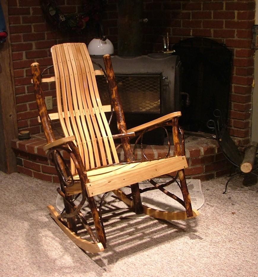 Wine Barrel Rocking Chair Plans Diy rocking chair wine barrel ...