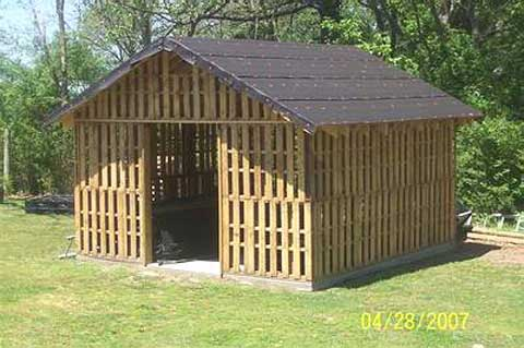 How much wood do you need to build a shed