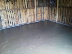 Concrete floor (4.5 yds)