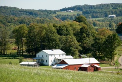Typical  Amish house. Picture credit: amishtrail.com