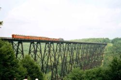 The Kinzua Bridge before its collapse. www.alleghenyratraid.com