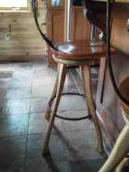 Axe Handle stools with swivel seats.
